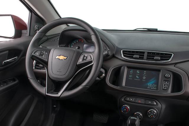 Novo Chevrolet Prisma 2017 - interior - MyLink2