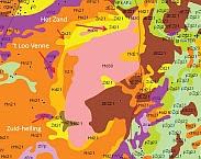 Figuur 2. Dwarsdoorsnede van de Archemerberg ter hoogte van 't Loovenne (Bron: dinoloket, REGIS II). Pag. 8 van Hoe nat was de berg? Hydro-ecologische systeemanalyse ten behoeve van lokaliseren voormalige en actuele vochtige heide op de Archemerberg