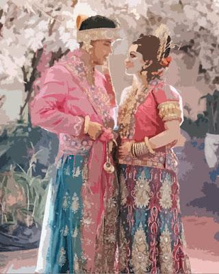 Lukisan Tradisional Penganting Bugis yang keren