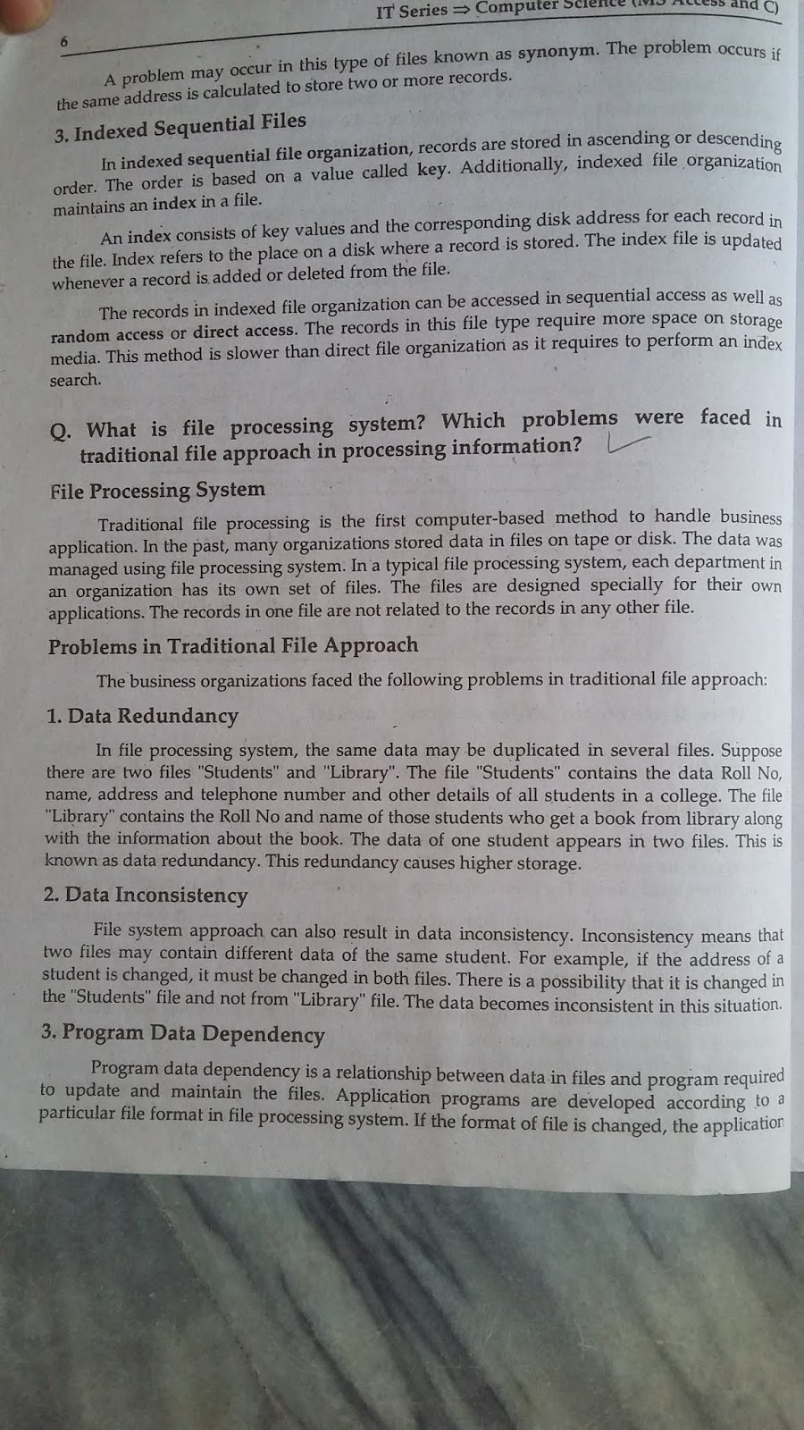 STUDY TIME LEARNING: Computer Science 2nd Year Chapter Wise