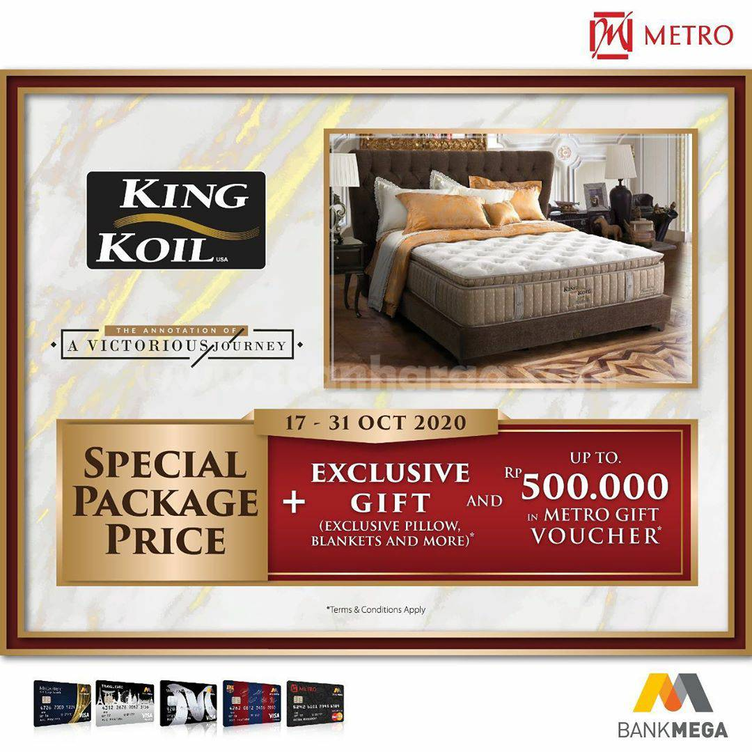 METRO Depstore Promo KING KOIL Special Package + Get Exclusive Gift + Get Voucher up to Rp 500.000.