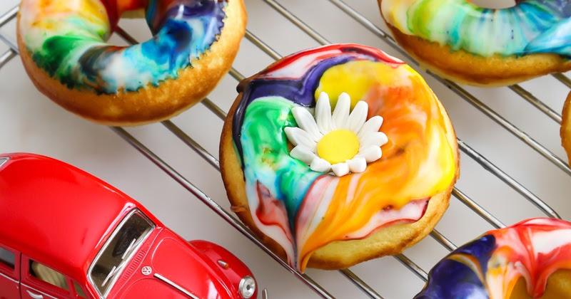 Lemon Tie Dye Doughnuts Sprinkle Bakes