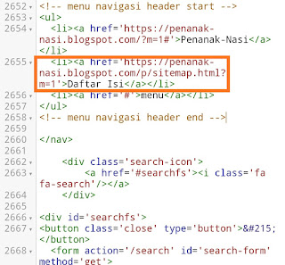 Cara Mengedit Menu Blog HTML pada Android