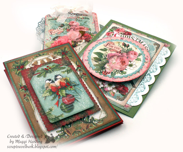 Christmas Cards & Tag Tutorials Stamperia Christmas Papers