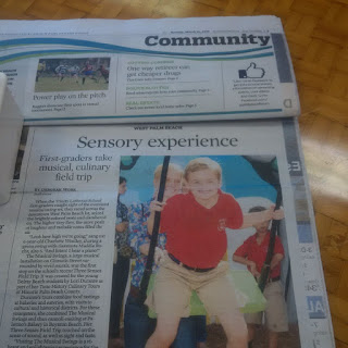 Sun-Sentinel Reports: Trinity Lutheran First-Graders hosted on Taste History Three Senses Field Trip