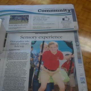 Sun-Sentinel Reports: Trinity Lutheran First-Graders hosted on Taste History Three Senses Field Trip