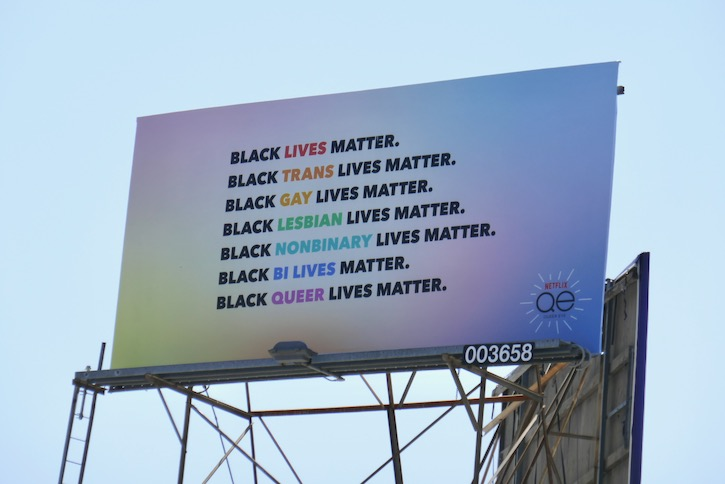 Black Lives Matter Queer Eye Netflix billboard