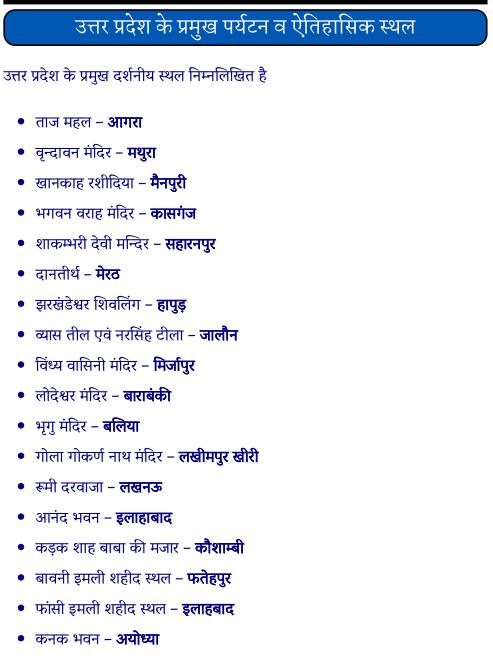 उत्तर प्रदेश के प्रमुख पर्यटन व ऐतिहासिक स्थल पीडीऍफ़ पुस्तक | Up Ke Pramukh Paryatan Sthal PDF Book In Hindi