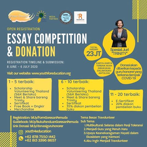 Essay Competition and Donation oleh Youth For Education