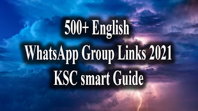 500+ English WhatsApp Group Links 2021