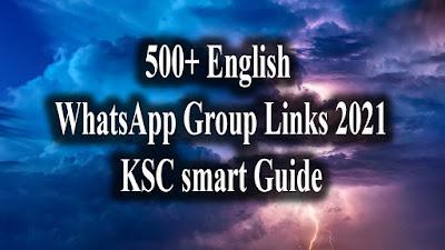 500+ English WhatsApp Group Links 2021