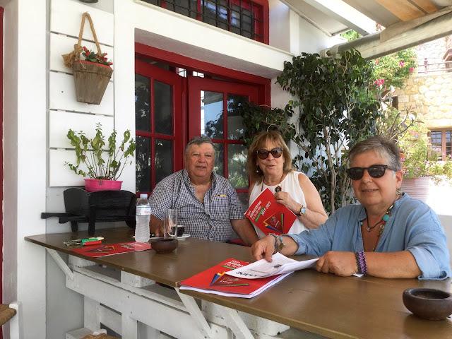 Περιοδεία της Ελένης Σταματάκη στις Σπέτσες