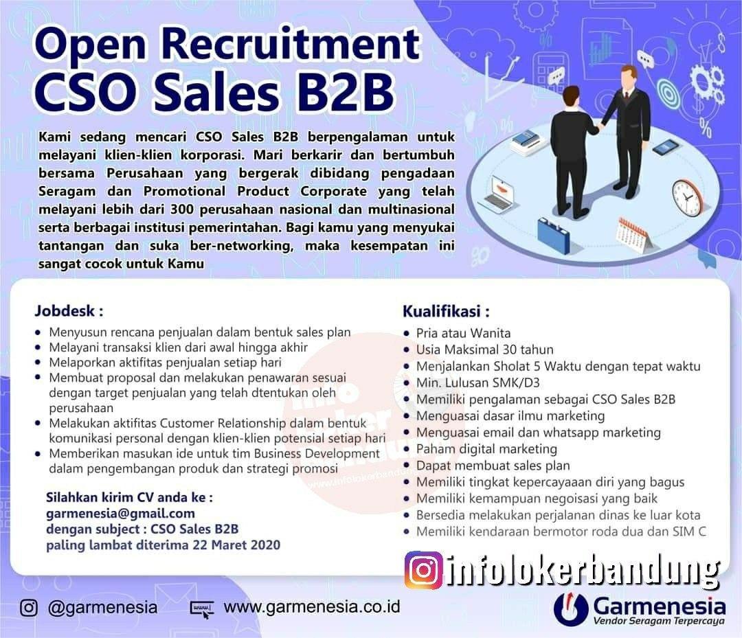 Lowongan Kerja SCO Sales B2B Gamernesia Bandung Maret 2020