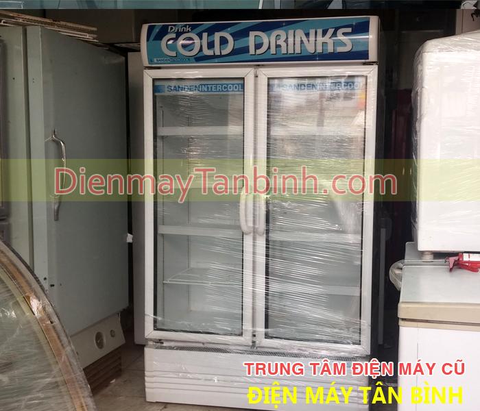 Cần bán tủ mát cũ Sanden Intercool 2 cửa kính