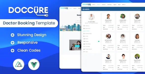 Best Doctor Appointment Booking System Bootstrap Vuejs Nuxtjs Template