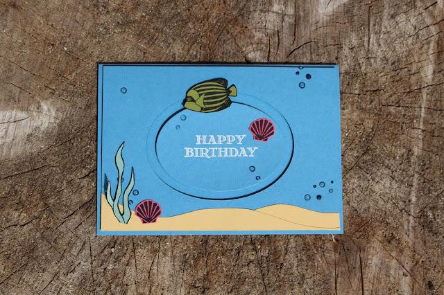 Spinner Cards, Seaside Shore stamp set, Stampin' Up!