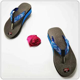 sandal Wedges Karet WHY