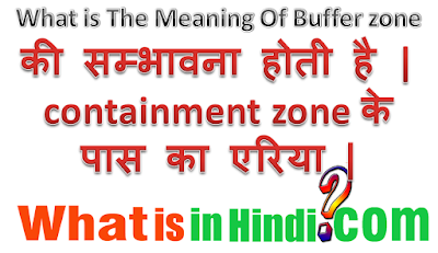 What is the meaning of Buffer Zone in Hindi