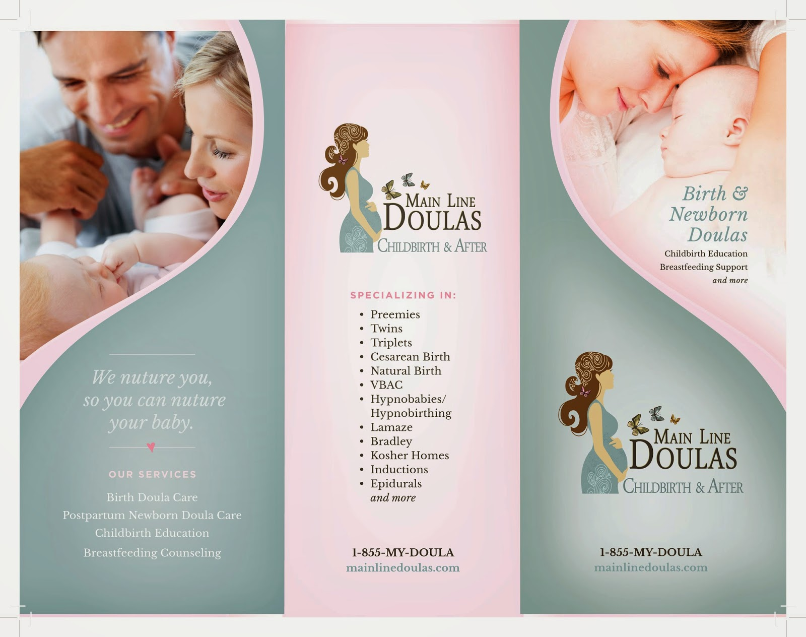 Grabs Full Pixels » Main Line Doulas  Trifold Brochure Trifold Brochure
