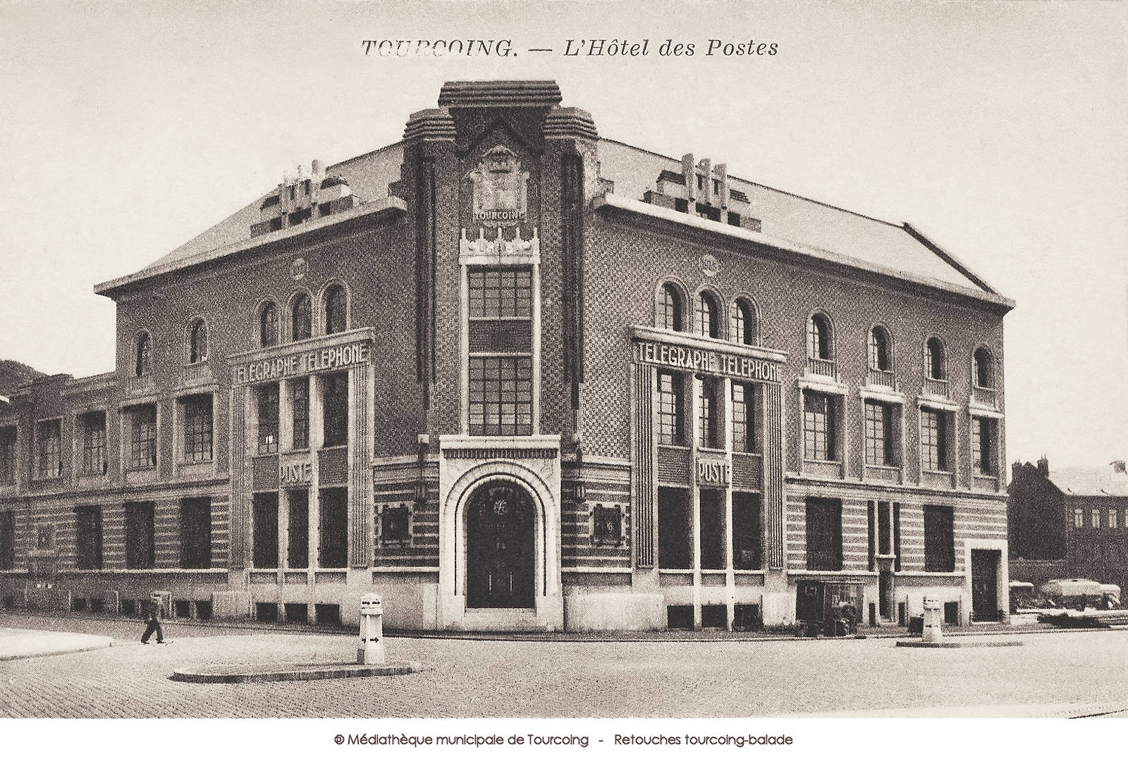 Carte postale ancienne - Poste Tourcoing