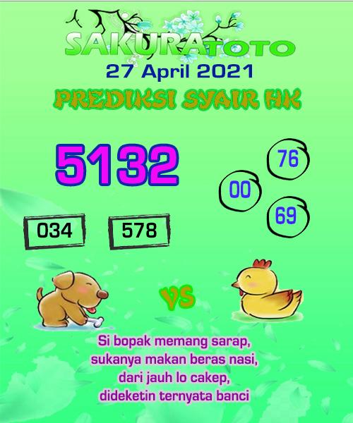 Syair HK Selasa 27 April 2021 -