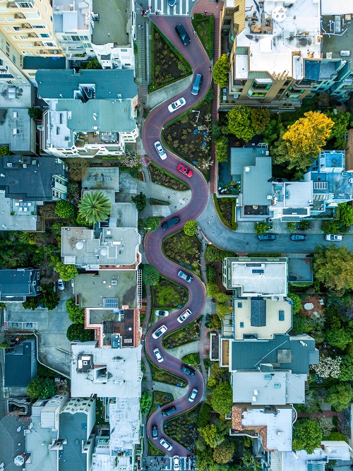 Lombard Street San Francisco Known To Be The Most Crooked