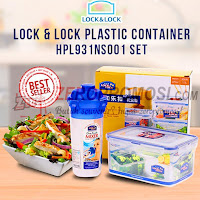 Lock & Lock Plastic Container 2pcs set HPL931NS001
