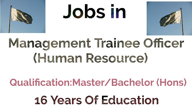 Jobs in Pakistan - Management Trainee Officer (Human Resource) || Government of Punjab