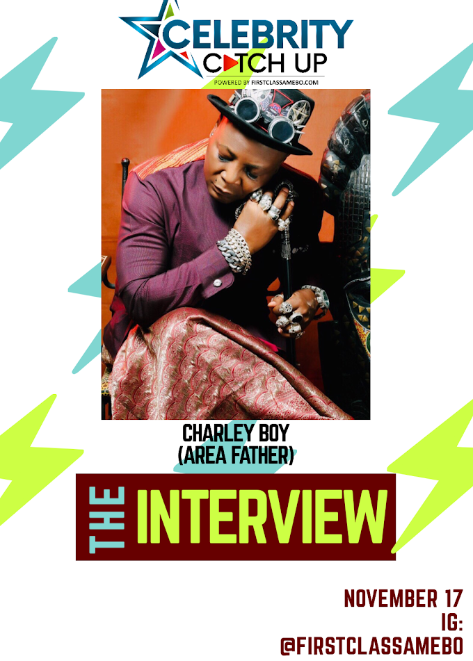 CELEBRITY CATCH UP; CHARLEY BOY EXCLUSIVE INTERVIEW