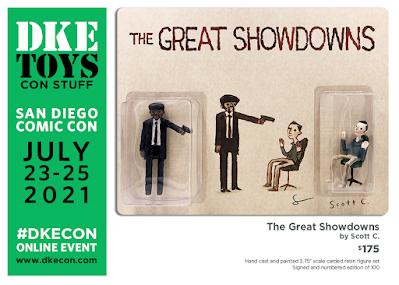 San Diego Comic-Con 2021 Exclusive The Great Showdowns Pulp Fiction Resin Figure Set by Scott C. x DKE Toys