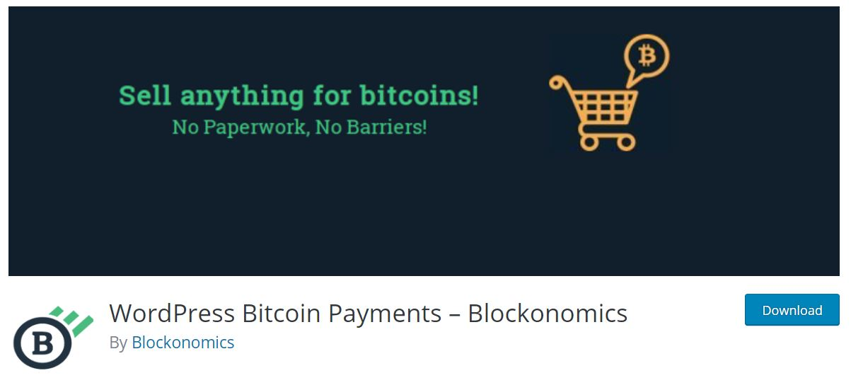 Blockonomics allows the user to accept all the Bitcoin payments