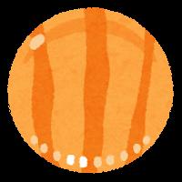 おはじきのイラスト(オレンジ)
