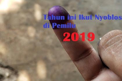 Tahun ini Ikut Nyoblos di Pemilu 2019