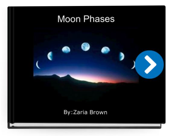 phases on the moon online book for kids
