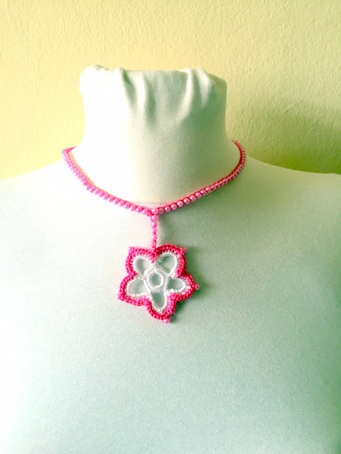 pendant necklace crochet pattern crochet jewellery