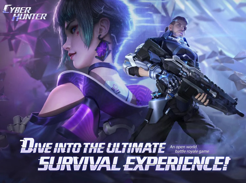 Cyber Hunter هي لعبة  تنافسية من الجيل التالي. إنها مليئة بمجموعة من العناصر المختلفة مجانًا على Android