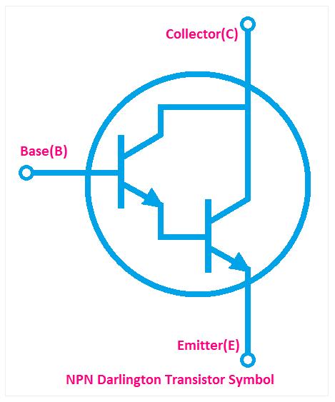 NPN Darlington Transistor Symbol