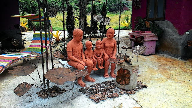 Terracotta family at Jakawan Baandin Chiang Mai