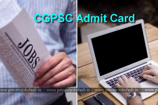 CGPSC Admit Card
