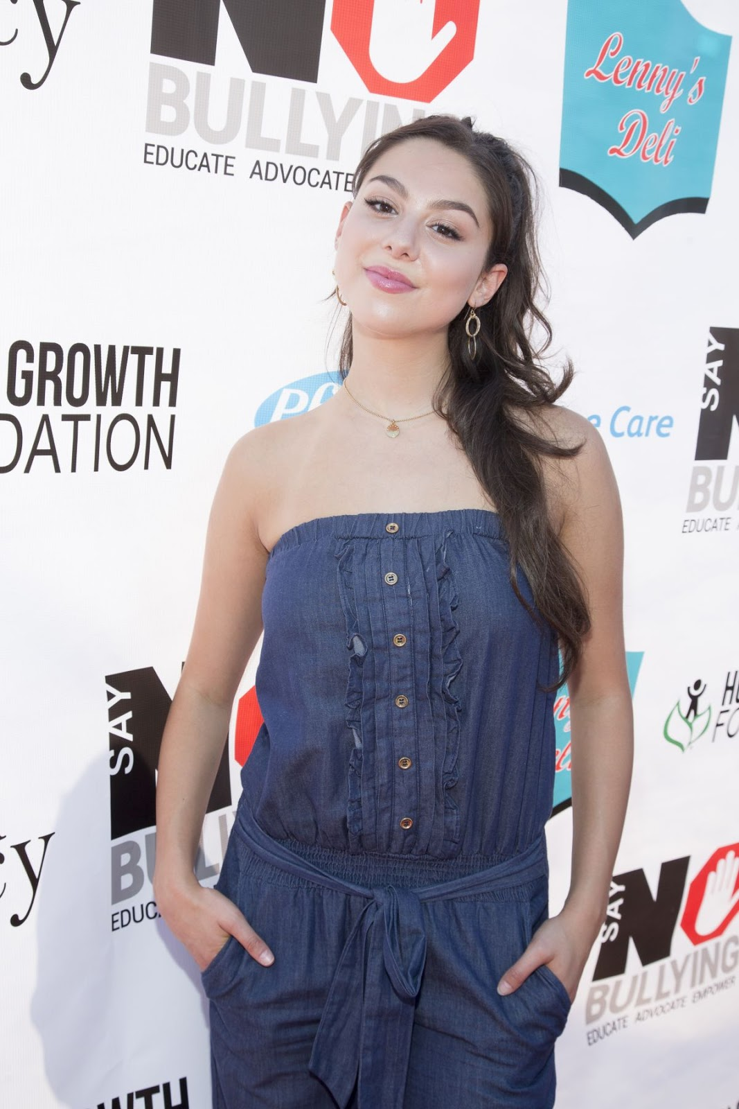 School of Rock actress Kira Kosarin at Say No Bullying Festival at Griffith Park