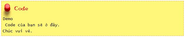 Tổng hợp khung chứa Code đẹp cho Blogspot