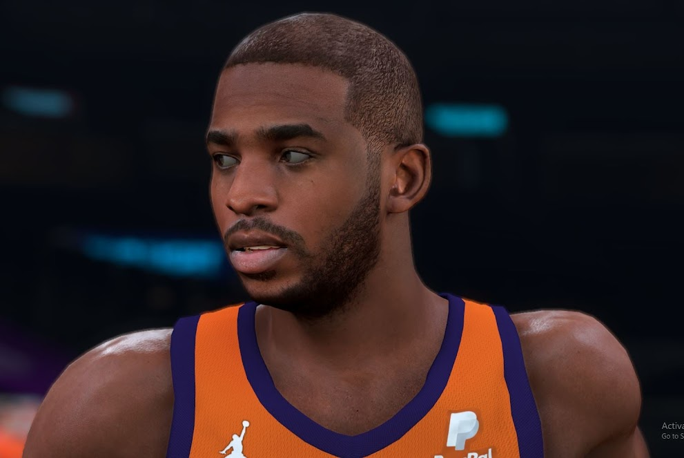 Chris Paul Cyberface and Body Model By FIRE2K [FOR 2K21]