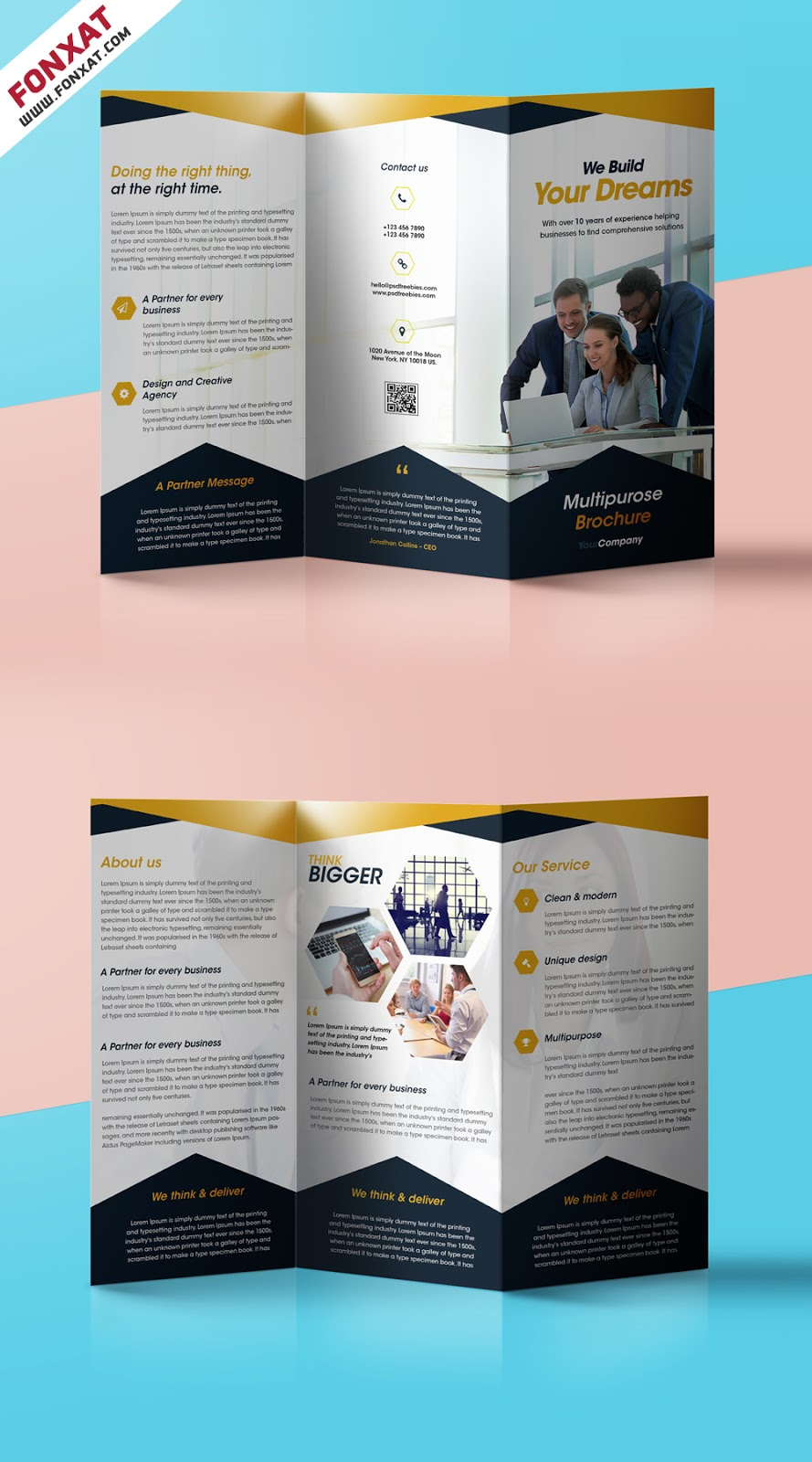 Professional-Corporate-Tri-Fold-Brochure-Free-PSD-Template