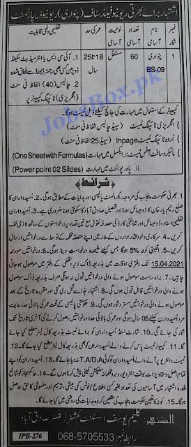 revenue-department-sadiqabad-patwari-jobs-2021