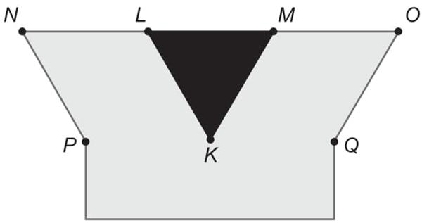 O logotipo de uma empresa foi desenhado, obedecendo aos seguintes critérios