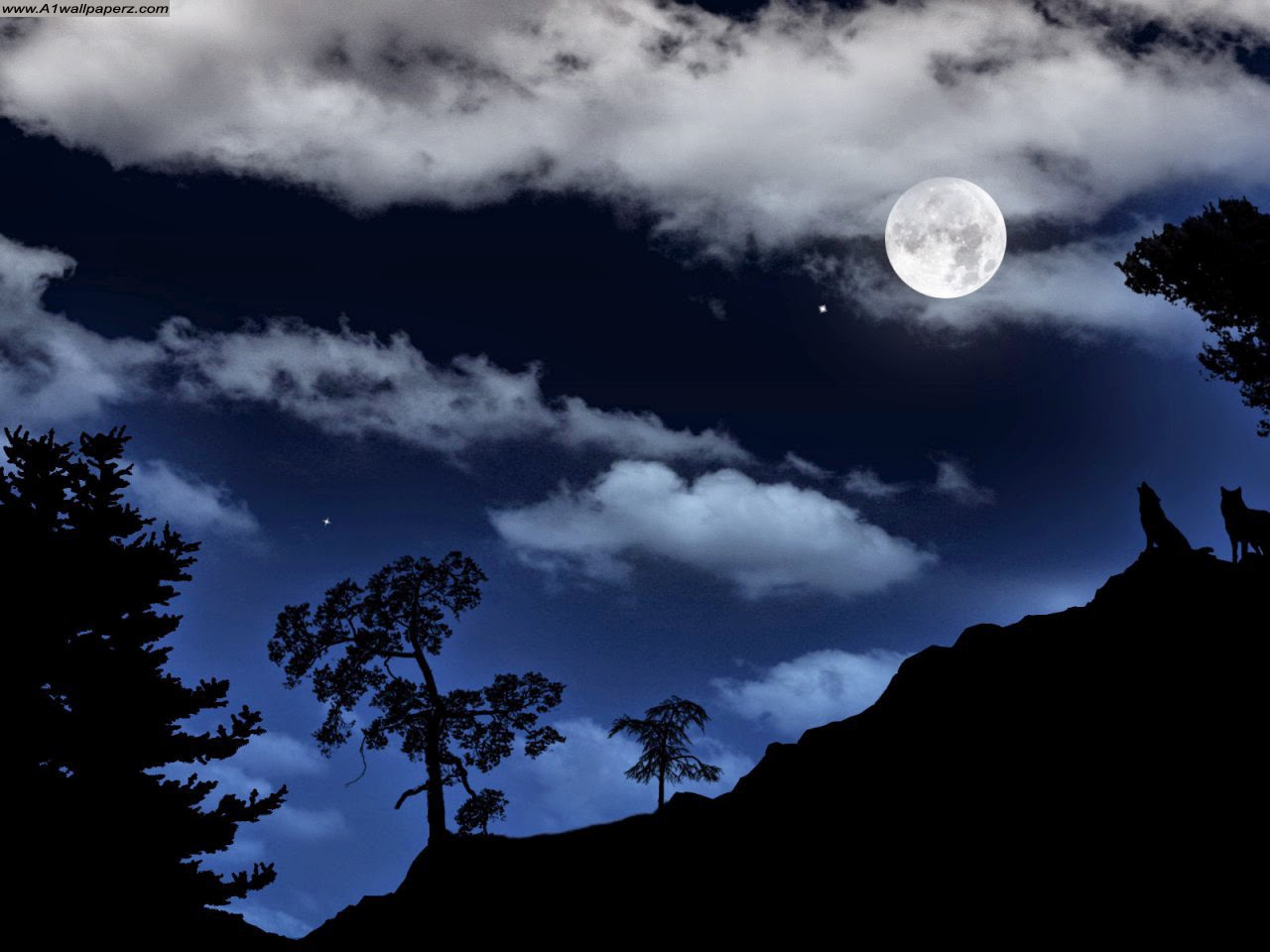 Moon HD Wallpaper Night Mode