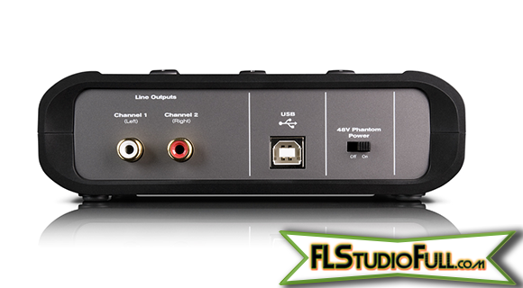 M-Audio Fast Track 2 - Interface Para Home-Studio (Traseira)