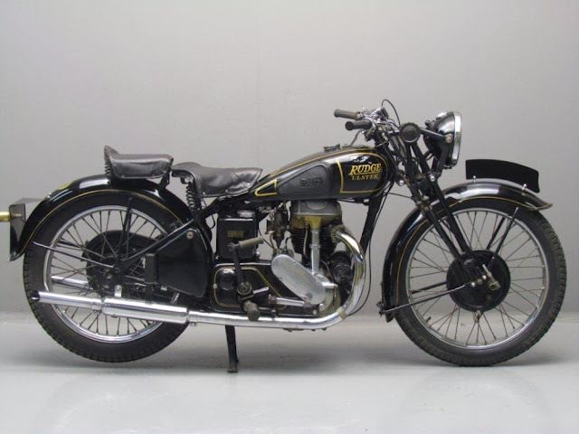 Rudge Ulster Britsh 1930s classic motorcycle
