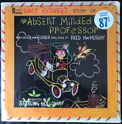 Disneyland Records vinyl, ST-1911, Sterling Holloway,Flubber, Fred MacMurray, 1961, Front cover