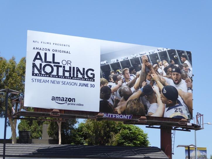 All or Nothing season 2 LA Rams billboard